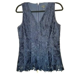 Ann Taylor Lace Sleeveless Top